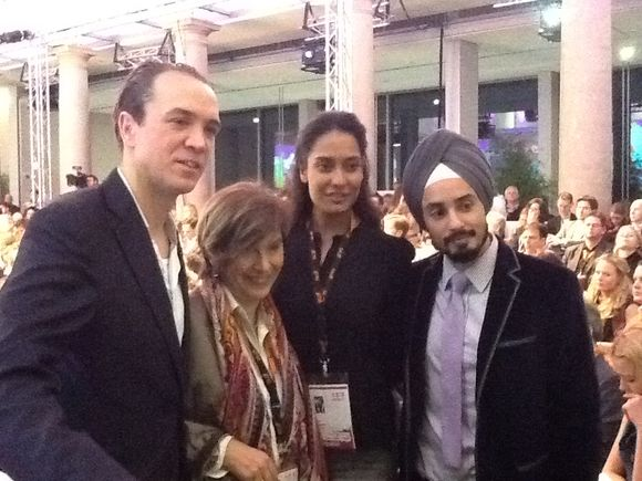 Meeting Lisa Haydon and Sonny Caberwel two Indian top models at DLD Conference