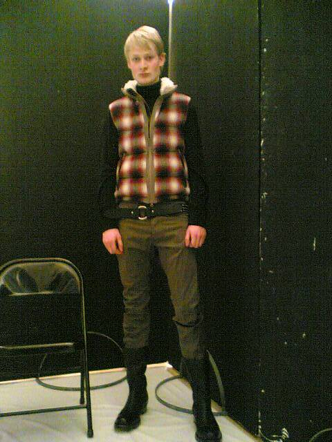 I did the looks 4 the zucca fashion show today.